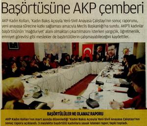 Başörtüsüne AKP Çemberi
