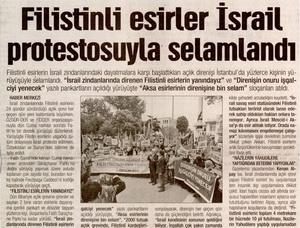 Filistinli Esirler İsrail Protestosuyla Selamlandı