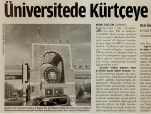 Üniversitede Kürtçeye STKlardan Destek