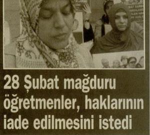 28 Şubat Mağduru Öğretmenler, Haklarının İade Edilmesini İstedi