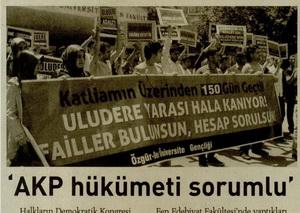 AKP Hükümeti Sorumlu