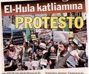 El - Hula Katliamına Protesto