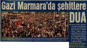 Gazi Marmara'da Şehitlere Dua