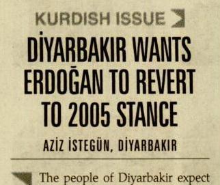Diyarbakır Wants Erdogan To Revert To 2005 Stance