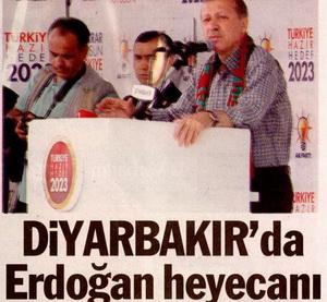 Diyarbakırda Erdoğan Heyecanı
