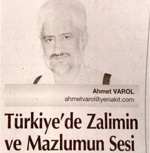 Türkiyede Zalimin ve Mazlumun Sesi