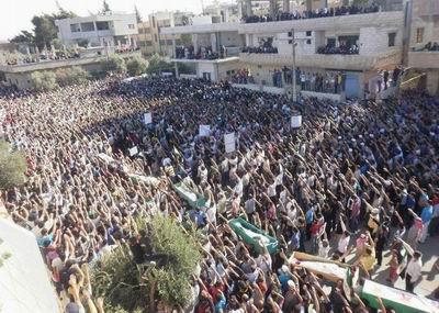 Suriyede Cuma Gösterileri Yine Kana Bulandı