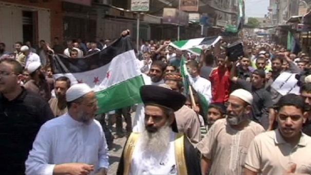 Gazze Halkı Suriye'deki Zulmü Protesto Etti