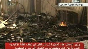Suriyede Esad Yanlısı Televizyona Bombalı Eylem