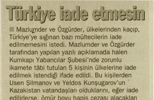 Türkiye İade Etmesin