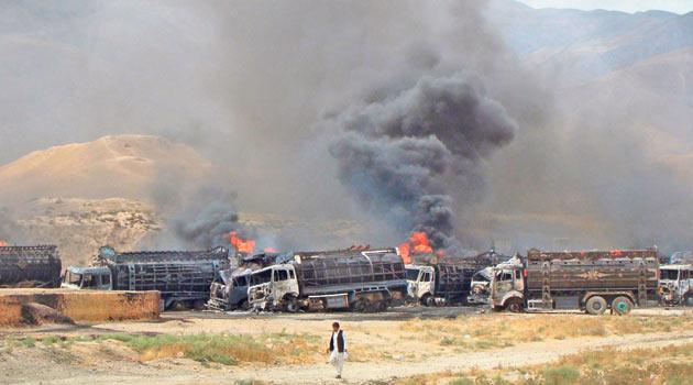 Afganistanda 22 NATO Tankeri Kül Oldu
