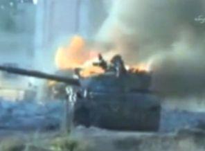 Muhalifler Esedin Tanklarını Havaya Uçurdu