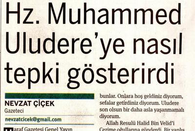 Hz. Muhammed Uludereye Nasıl Tepki Gösterirdi