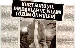 Kürt Sorunu Dindarlar ve İslami Çözüm Önerileri -1