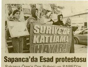 Sapancada Esad Protestosu