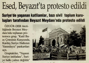 Esed, Beyazıtta Protesto Edildi