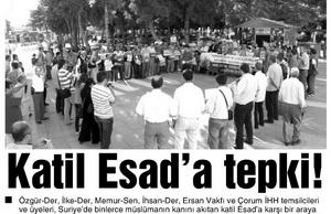 Katil Esada Tepki!