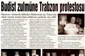 Budist Zulmüne Trabzon Protestosu
