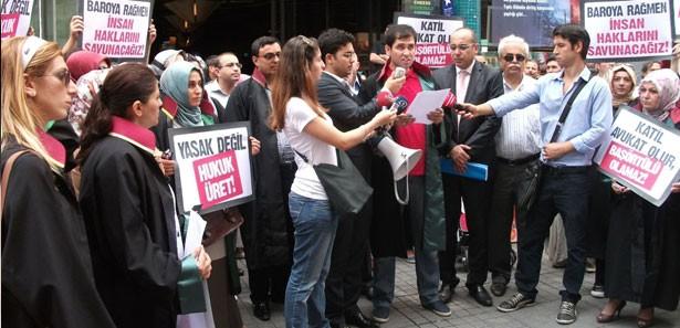 Hukukçulardan İstanbul Barosuna Protesto