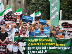 Halep Direnişine Beyazıt'ta Destek Eylemi