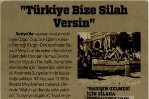 Türkiye Bize Silah Versin