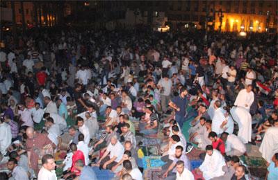 Tahrir Meydanında Mursiye Destek Gösterisi