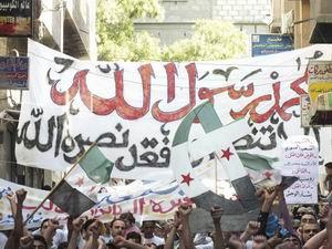 Suriyede İğrenç Filmi Protesto Edenlere Bomba!