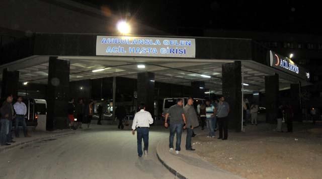 Hastane Önündeki Polise Saldırı