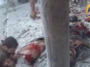 Halep'te Bombalanan Halk Böyle Feryat Etti (VİDEO)