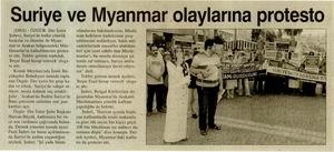Suriye ve Myanmar Olaylarına Protesto