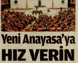 Yeni Anayasaya Hız Verin