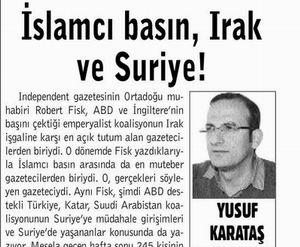 İslamcı Basın, Irak ve Suriye!