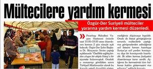 Mültecilere Yardım Kermesi