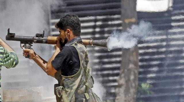 Direnişçiler Şam'da Helikopter Düşürdü