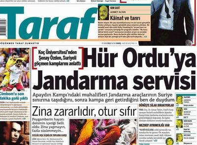 Taraf'taki Endazeyi Kaçırmış Manşetlerin Zirvesi!