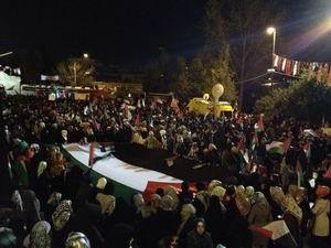 İsrail, Fatih Camii Avlusunda Protesto Edildi (FOTO)