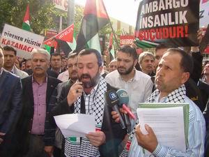 Antalya'da İsrail ve Esed Protesto Edildi