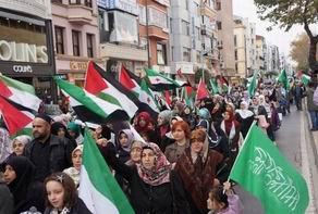 Gazze ve Suriye İçin Fatihte Yürüyüş Yapıldı (FOTO)