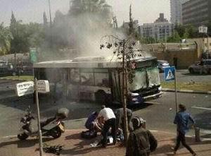 Tel Aviv'de Bir Otobüs'e Bombalı Eylem