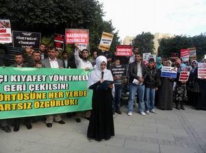 Yasakçı Genelge Adanada Protesto Edildi