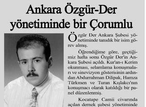 Ankara Özgür-Derin Yönetiminde Bir Çorumlu