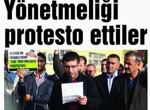 Yönetmeliği Protesto Ettiler