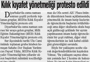 Kılık Kıyafet Yönetmeliği Protesto Edildi