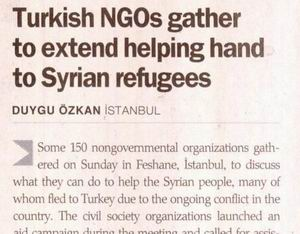 Turkish Ngos Gather To Extend Helping Hand To Syrian Refugees