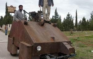 Direnişçilerden El Yapımı Zırhlı Araç: Sham2