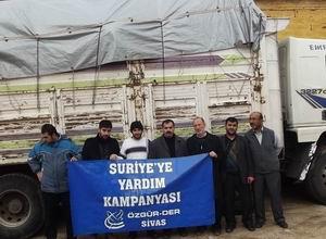 Sivas Özgür-Derden Suriye Halkına Yardım