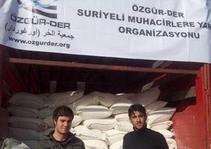Özgür-Der'den Suriye'ye Un, İlaç ve Gıda Yardımı