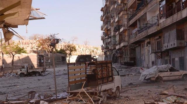 Şamda İçişleri Bakanlığı Önünde Patlama