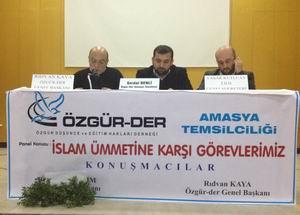 """Amasya'da """"Ümmet ve Sorumluluğumuz"""" Paneli"""