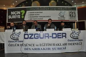 """Diyarbakır'da """"Niçin Suriye?"""" Paneli Yapıldı"""